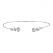 Armband roses Zilver