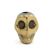 Kralen hematite Skull Antique gold