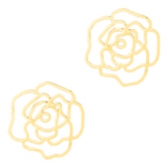 Bohemian tussenstuk rose 10mm Gold