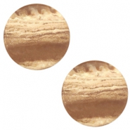 12 mm platte Polaris Elements cabochon Stone Look Beige topaz