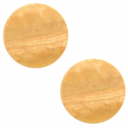 12 mm platte Polaris Elements cabochon Stone Look Light cognac brown