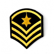 Fashion Patches army sign Zwart-goud