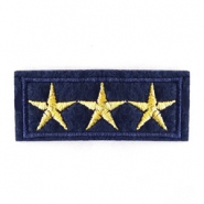 Fashion Patches army stars Blauw-goud