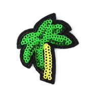 Fashion Patches palmboom Groen-geel