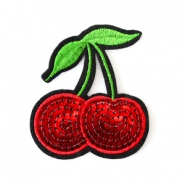 Fashion Patches kers Rood-groen