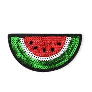 Fashion Patches watermeloen Rood-groen-wit