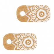 "Kaartjes voor sieraden ""made with love"" mandala Brown"