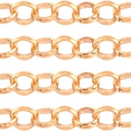 Designer kwaliteit 3 mm rond jasseron DQ Rose Gold plated duurzame plating