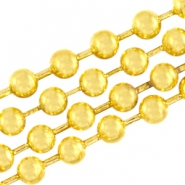 DQ ball chain ketting 2mm DQ Gold plated duurzame plating