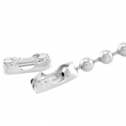 DQ slotje ball chain voor 3 mm ketting DQ Silver plated duurzame plating