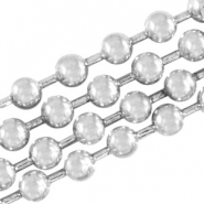 DQ Ball chain ketting 3 mm DQ Antiek Silver plated duurzame plating