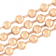 DQ ball chain ketting 2 mm DQ Rose Gold plated duurzame plating