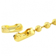 Slotje ball chain voor 1.2 mm ketting DQ DQ Gold plated duurzame plating