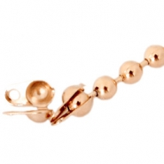 Eindkapjes DQ voor 1.2 mm ball chain DQ Rose Gold plated duurzame plating