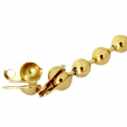 Eindkapjes DQ voor 1.2 mm ball chain DQ Gold plated duurzame plating