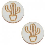 Cabochons hout cactus 12mm Grey