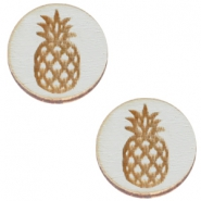 Cabochons hout ananas 12mm Grey