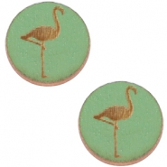Cabochons hout flamingo 20mm Pine green