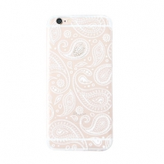 Smartphonehoesjes voor iPhone 6 paisley Transparent-white