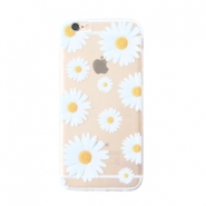 Smartphonehoesjes voor iPhone 5 daisies Transparent-white yellow