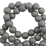Kralen hematite rond 10mm mat Anthracite grey