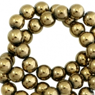 Kralen hematite rond 6mm Antique gold