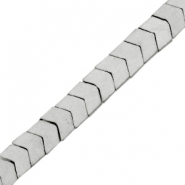 Kralen hematite arrow mat Light grey