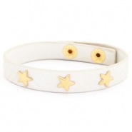 Armband reptile met studs gold star Off white