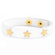 Armband met studs gold star White