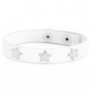 Armband met studs silver star White