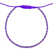 Ibiza look armbandje Purple-silver