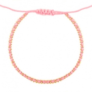 Ibiza look armbandje Light coral rose-gold