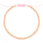 Ibiza look armbandje Light rose-gold