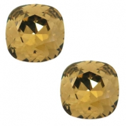 Swarovski Elements vormen divers 4470-12mm square Smokey quartz