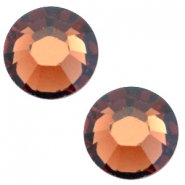 Swarovski Elements flat back SS30 (6.4mm) Smoked topaz