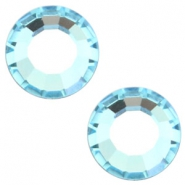 Swarovski Elements flat back SS30 (6.4mm) Aquamarine blue