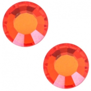 Swarovski Elements flat back SS30 (6.4mm) Hyacinth orange