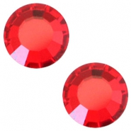 Swarovski Elements flat back SS30 (6.4mm) Light siam red