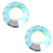 Swarovski Elements flat back SS20 (4.7mm) Aquamarine blue aurore boreale