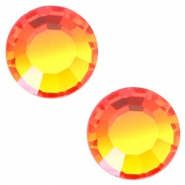 Swarovski Elements flat back SS20 (4.7mm) Fire opal orange