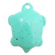 Acryl DQ bedel schildpad Turquoise