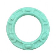 Acryl DQ bedel 50mm ring Boho Turquoise