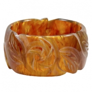 Acryl DQ Polaris armband carved Topaz brown