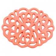 Acryl DQ bedels/tussenstuk ornament Coral rose