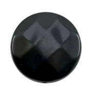 Acryl DQ kralen plat rond 30mm facet Black