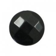 Acryl DQ kralen plat rond 24mm facet Black