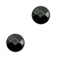 Acryl DQ kralen plat rond 14mm facet Black