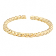 Trendy ringen twist Gold