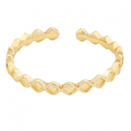 Trendy ringen wave Gold