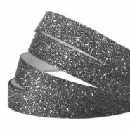 Tape van Crystal Glitter 10mm Dark grey